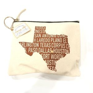 Carry-All Texas State Design Zipper Pouch